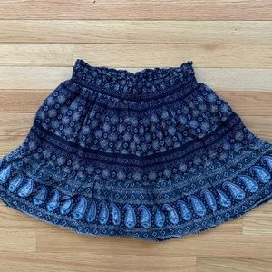 Navy print, flowy skirt